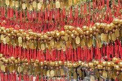 Temple chinois en Hong Kong, Chine images stock