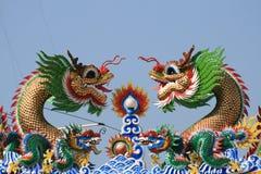 Temple chinois, Rangsit, Bangkok, Thaïlande. Photo stock