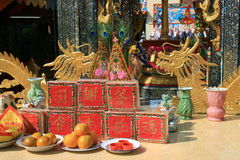 Temple chinois, Rangsit, Bangkok, Thaïlande. Images stock