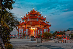 Temple chinois sur Koh Loi Image stock