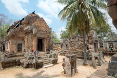 Temple on Chiso Mountain, Cambodia Royalty Free Stock Photography