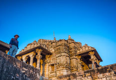 Temple at Chittor Fort Royalty Free Stock Photos
