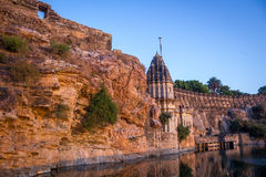 Temple at Chittor Fort Stock Photography