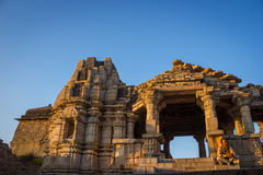Temple at Chittor Fort Stock Photo