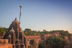Temple at Chittor Fort Royalty Free Stock Images