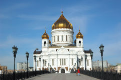 Temple of Christ our Saviour in Moscow Royalty Free Stock Photography