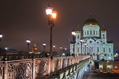 The temple of Christ the Savior Stock Photography