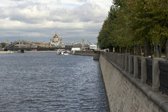 The temple of Christ the Savior. The temple of Crist the Savior on the Moscow River Stock Image