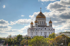Temple of Christ the Savior in Moscow Stock Photos