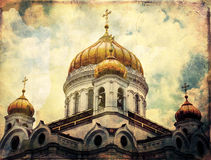 Temple of the Christ of the Savior, Moscow.  Royalty Free Stock Photos