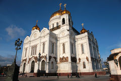 Temple of Christ of  Savior in Moscow Stock Photos