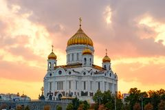 Temple of Christ the Savior in Moscow. royalty free stock photography