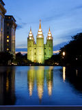 Temple of The Church of Jesus Christ of Latter-day Saints reflec Royalty Free Stock Image