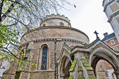 Temple Church at london, England Royalty Free Stock Images
