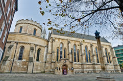 Temple Church at london, England Stock Image