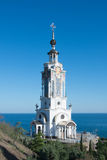 Temple. Church on the sea shore Royalty Free Stock Photo