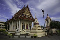 Temple church. In suratthani, thailand Royalty Free Stock Photos