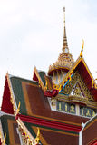 Temple Church in Thailand. Gable in the monastery church The architecture is beautiful and made in Thailand Royalty Free Stock Photos