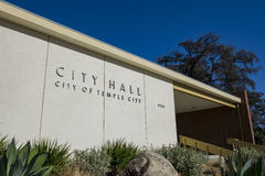 Temple City City Hall. The entrance sign of Temple City City Hall royalty free stock photography