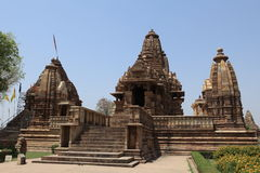 Temple City of Khajuraho in India Stock Photography