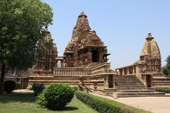 Temple City of Khajuraho in India Royalty Free Stock Photo