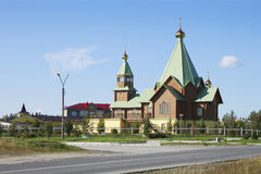 Temple in the city of Polyarnye Zori. The Murmansk region. Russi Royalty Free Stock Images