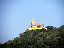 Temple on the cliff landscape Royalty Free Stock Images