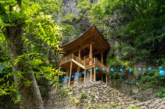 Temple in the cliff Royalty Free Stock Photography