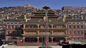 Temple in the college of Buddhism in seda country stock photos