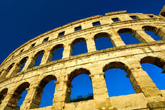 Temple Colloseum Amphitheatre Royalty Free Stock Image
