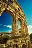 Temple Colloseum Amphitheatre Stock Photo