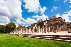 Temple with columns, Chichen Itza, Mexico Stock Images