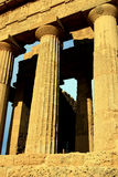 Temple columns detail. Agrigento - Sicily Stock Images