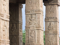 Temple Columns, Nanjangud. Royalty Free Stock Photos