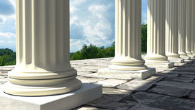 Temple columns Stock Photography