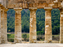Temple Columns in Sicily Stock Image