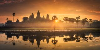 Temple complex Angkor Wat Siem Reap, Cambodia Royalty Free Stock Photos