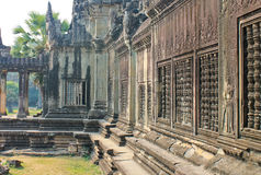 Temple complex in Cambodia, dedicated to Lord Vishnu. Cambodia Angkor Wat Stock Photography