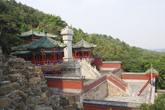 Temple complex, China. Temple complex on the  mountain of the summer palace, outskirts of beijing, china Stock Photography