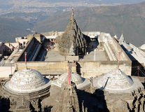 Temple complex on the holy Girnar top in Gujarat Royalty Free Stock Photo