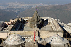 Temple complex on the holy Girnar top in Gujarat Stock Image