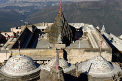 Temple complex on the holy Girnar top in Gujarat Royalty Free Stock Image