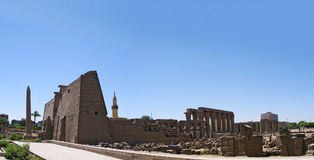 The temple complex at Luxor, Royalty Free Stock Photography