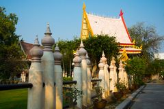 The temple complex of Phra Narai the city of Nakhon Ratchasima. Thailand. Ancient Buddhist temples with gold in a small town in Thailand. Nakhon Ratchasima Stock Images