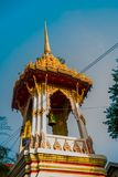 The temple complex of Phra Narai the city of Nakhon Ratchasima. Thailand. Ancient Buddhist temples with gold in a small town in Thailand. Nakhon Ratchasima Stock Photography