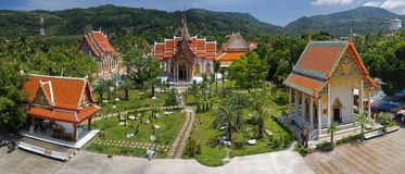 Temples in Phuket Thailand. A temple complex in Phuket, Thailand royalty free stock image