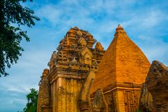 The temple complex Po Nagar, Ponagar Cham tower. Nha Trang.Vietnam Stock Photos