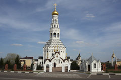 The temple complex of the Russian Orthodox Church. Royalty Free Stock Photos