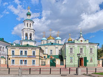 Temple complex of the St. Nicholas Cathedral in Kazan, Russia Royalty Free Stock Photo