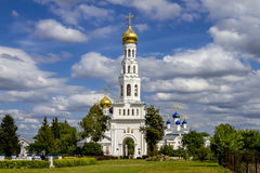 Temple complex in the village of Zavidovo, Tver region, Russia Stock Photos